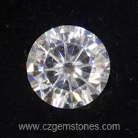 round mossianite diamond
