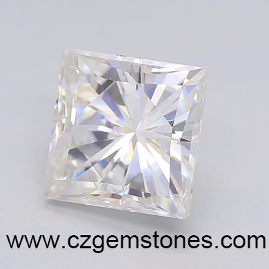 square princess cut moissanite